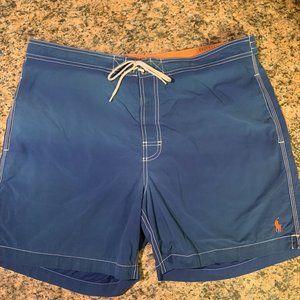 Ralph Lauren Swim Trunks Shorts Sz XL Blue Orange
